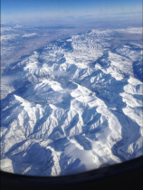 Just a few short hours later, we're flying over the Rockies!