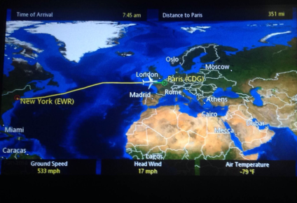 A pleasantly uneventful flight, nearing our next destination. For me, the final one. My seat-mate on this leg, Taylor from North Dakota, too!