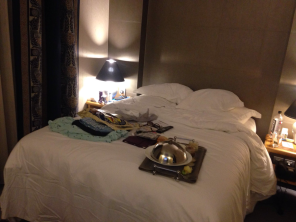 Room service, and sleep... even though it is a new day in the city!