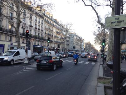 Le Boulevard Beaumarché on a Friday at 5:30.