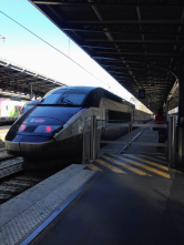 Three days after landing at CDG airport, I catch my first ride on a TGV to Laon, with a transfer in Reims!