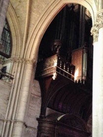 This wooden structure housing the organ pipes is as tall and wide as a building within the cathedral!
