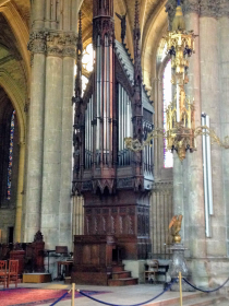 I can guarantee you this one organ cabinet stands taller than your house!
