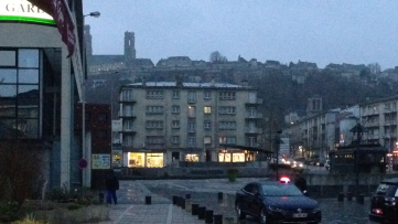 Viewing the ancient hilltop city one last time on this visit, from the train station in modern lower Laon.