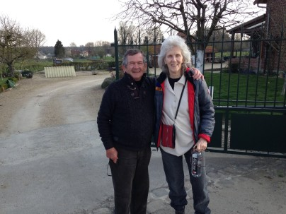 After lunch, Alain walks me down Rue Simon Lambacq, where I get a chance to meet Jacques!! He has memories too, of when we were there.